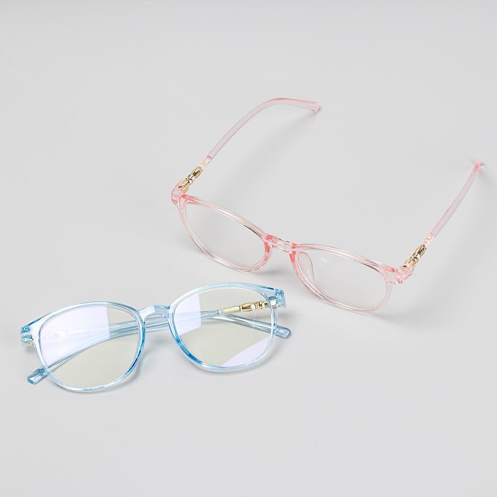 🌱EUPUS🍀 Retro Vision Care Resin Flat Lens Computer Glasses Flexible Portable Anti Blue Rays Fashion Myopia Prescription Eyeglasses/Multicolor