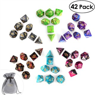 Set 42 khối xúc xắc đa diện kèm túi