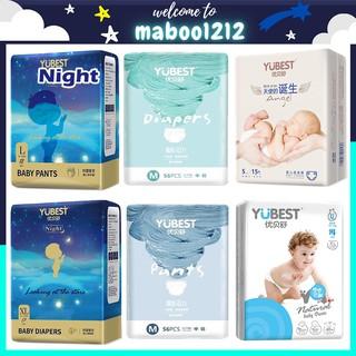 Bỉm Yubest FREESHIP Tã Bỉm YUBEST Gold Night Angel Natural Core quần dán S132, S90, M108, M84, L96, L78 thumbnail