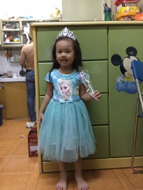 Váy bé gái elsa frozen lấp lánh màu xanh JENNIE KIDS cho bé 13-32kg J14