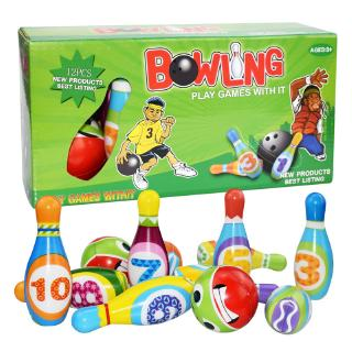 Bowling Set Toy Indoor Toys Toss Sports Developmental Game for Active Kids Children Toddlers Boys