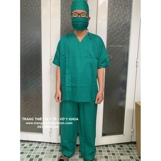 Bộ đồ phẫu thuật, bộ đồ kỹ thuật viên spa vải đẹp, hấp được