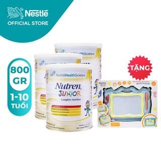 Combo 3 lon Sữa bột Nutren Junior 800g/lon [Tặng 1 Bảng Nam Châm Tự Xóa]
