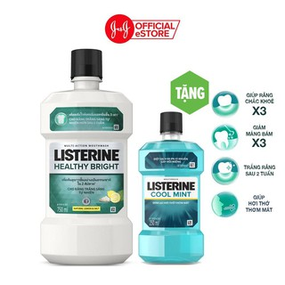 """Nước súc miệng Listerine Heathy Bright Trắng Sáng 750ml Tặng Tặng nước súc miệng Listerine Coolmint 250ml -101016576 giá chỉ còn <strong class=""""price"""">9.900.000.000đ</strong>"""