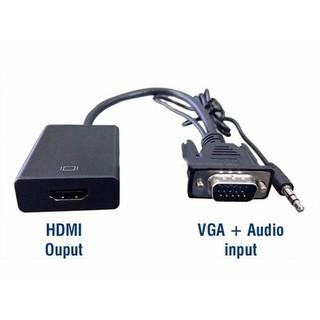 [Mã ELFLASH5 giảm 20K đơn 50K] Cáp Chuyển Đổi VGA Sang HDMI Có Audio - Hàng Chất Lượng - VGA TO HDMI