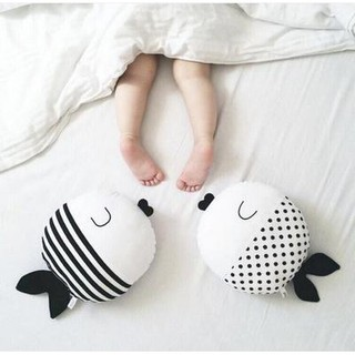 Doll pillow striped wave dot small fish pillow accompany sleep to soothe baby