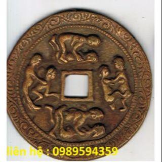 Đồng tiền Xu cổ Phong Hoa Tuyết Nguyệt to 7cm