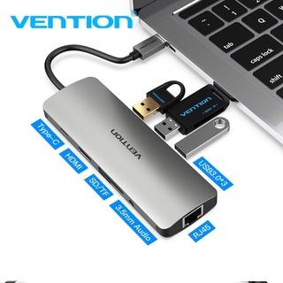 Đầu HUB Vention chia cổng USB type C sang 9 cổng 4K HDMI USB 3.0……