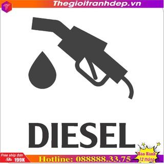 Tem dán xe bán tải icon phân biệt xăng - dầu thumbnail