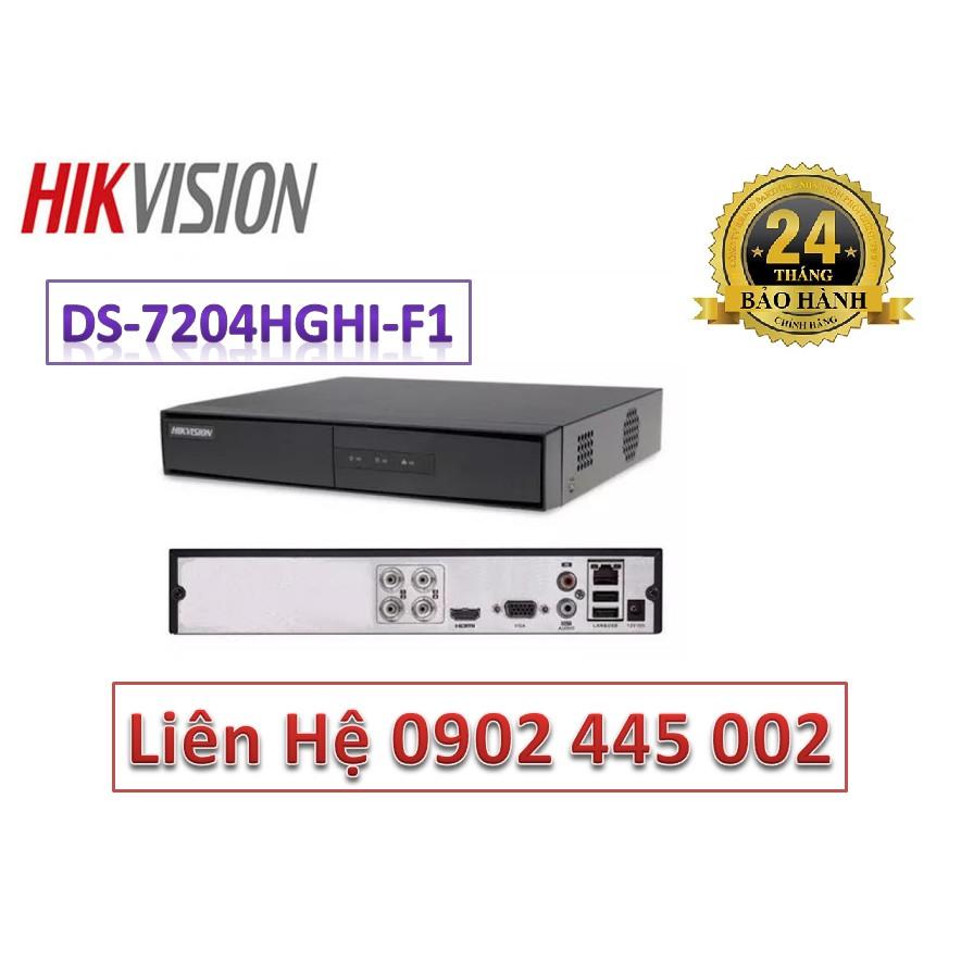 Đầu ghi hình Hikvision DS-7204HGHI-F1 4 kênh TURBO HD 3.0 DVR ( vỏ sắt ) Chính Hãng