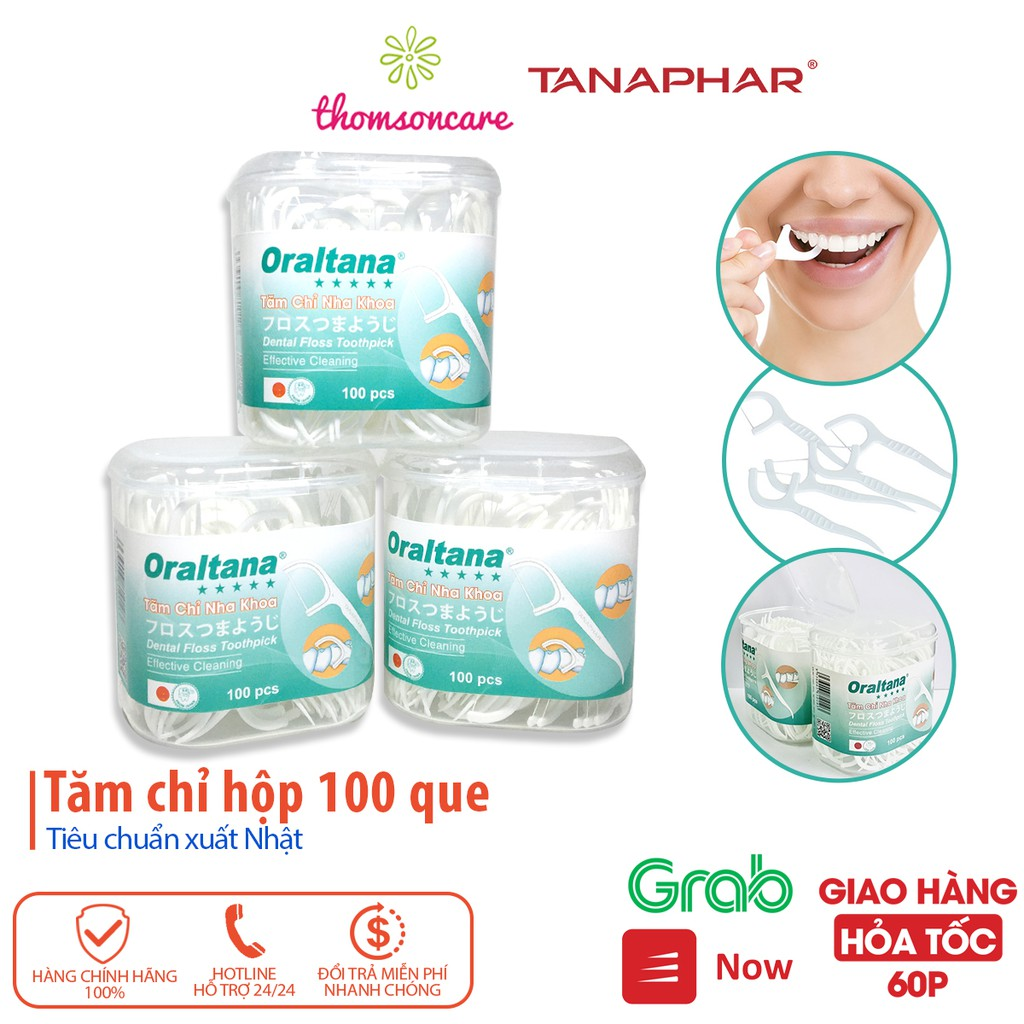 Tăm chỉ nha khoa Oraltana - Lọ 100 que - tăm kẽ răng Oral Tana, xỉa răng, chăm sóc răng lợi tiêu chuẩn xuất Nhật