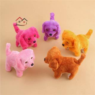 HYP Cute Walking Barking Toy Funny Electric Short Floss Electric Moving Dog Children Kids Toys @VN