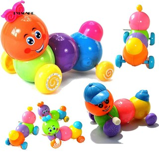 ♕Cute Colorful Body Worming Caterpillar Wind up Toy Kid Children Birthday Gift
