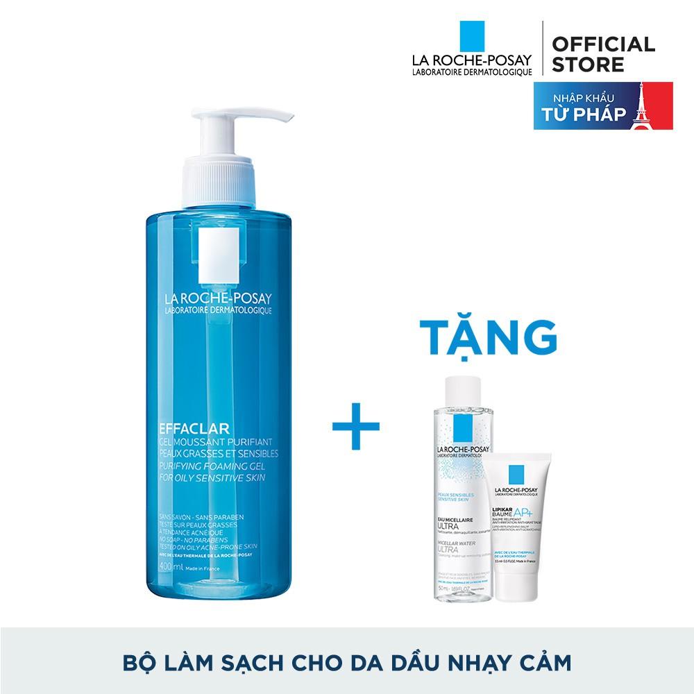 Bộ sản phẩm Gel rửa mặt làm sạch & giảm nhờn cho da dầu nhạy cảm La Roche-Posay