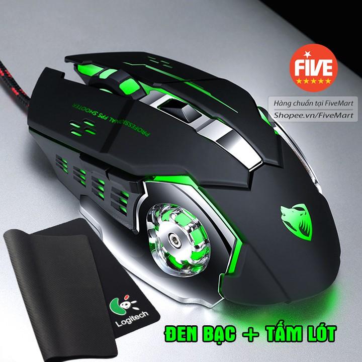 Chuột game thủ cực bền thiết kế độc lạ có LED nhiều màu