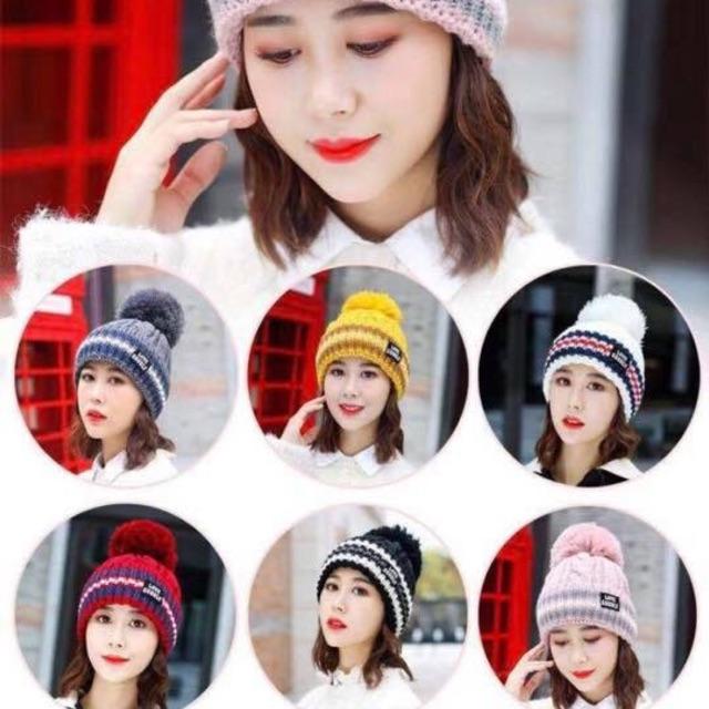 Mũ len nữ phong cách hàn quốc