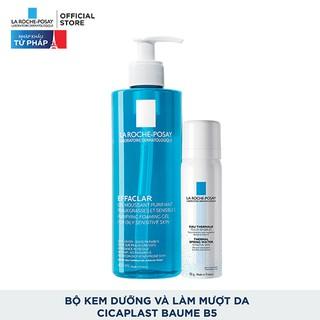 Hình ảnh Bộ sản phẩm làm sạch và bảo vệ da dầu nhạy cảm La Roche-Posay Effaclar Gel-0
