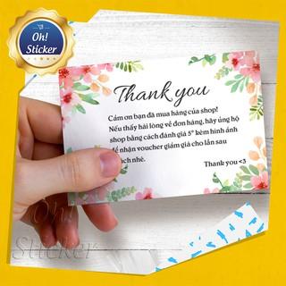 In Thiệp Cảm Ơn Khách Hàng Cho Shop - Thiết kế Và In Theo Yêu Cầu | Oh Sticker [Set 100 thiệp]