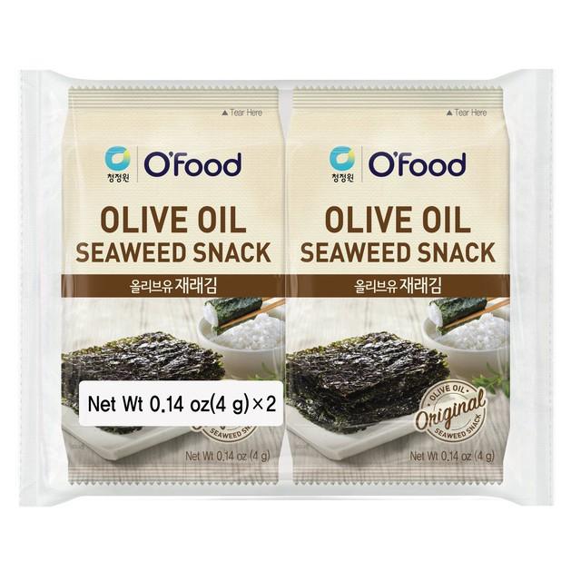 Combo 2 gói Snack rong biển ăn liền O'food 4g/gói