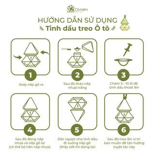 Tinh Dầu Treo Hương Đồng quê Sả Chanh Thiên Nhiên Nguyên Chất Đuổi Muỗi Cỏ Mềm 8,5ml