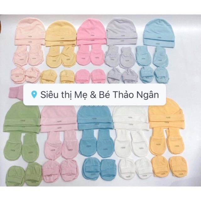 Nous (10 màu)  set mũ và bao tay chân 2019