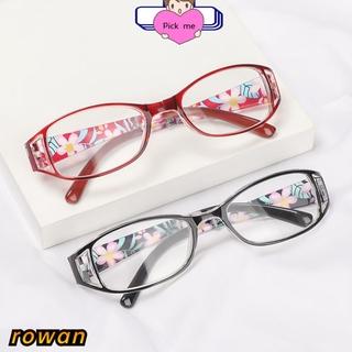 ROW Fashion Foldable Reading Eyeglasses Printing Folding Presbyopia Eyewear Anti-blue Light Glasses Vision Care Vintage Classic Men Women Radiation Protection Computer Goggles/Multicolor