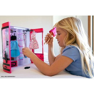 Tủ quần áo Barbie DPP71 bổ sung cho bộ sưu tập Barbie yoga có khớp made to move