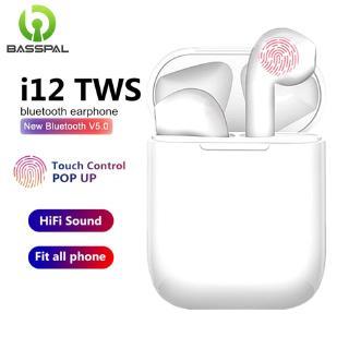 Tai Nghe Bluetooth Không Dây Basspal I12 TWS Dành Cho Điện Thoại Thông Minh