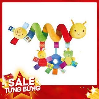 Đồ chơi treo nôi cũi xe đẩy hình xoắn ốc màu sắc cho bé -Hàng nhập khẩu