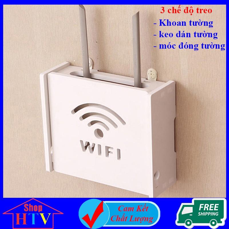 Kệ treo tường trang trí phòng ngủ, Kệ để modem wifi phòng khách