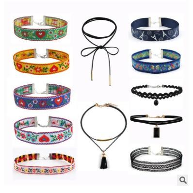 Bộ 12 vòng cổ chocker đa phong cách