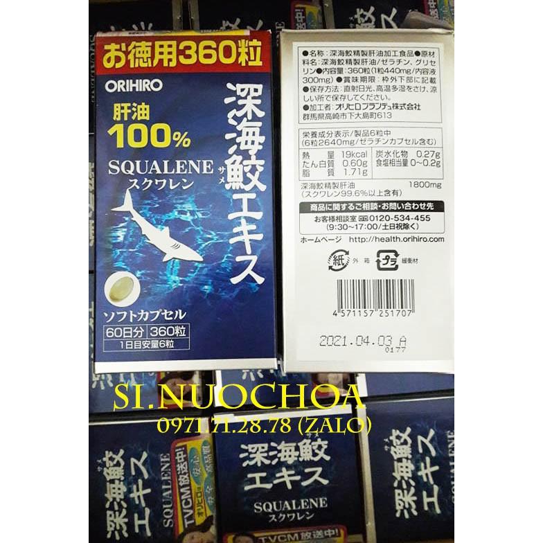 (DATE_4/2021) Hộp 360v Viên uống sụn vi Cá Mập Squalene Orihiro 360 viên của Nhật Bản - 3454755 , 1317857656 , 322_1317857656 , 650000 , DATE_4-2021-Hop-360v-Vien-uong-sun-vi-Ca-Map-Squalene-Orihiro-360-vien-cua-Nhat-Ban-322_1317857656 , shopee.vn , (DATE_4/2021) Hộp 360v Viên uống sụn vi Cá Mập Squalene Orihiro 360 viên của Nhật Bản