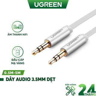 [Mã 2404EL10K giảm 10K đơn 20K] Dây Audio 3.5mm tròn mạ vàng 24K, TPE cao cấp UGREEN AV119