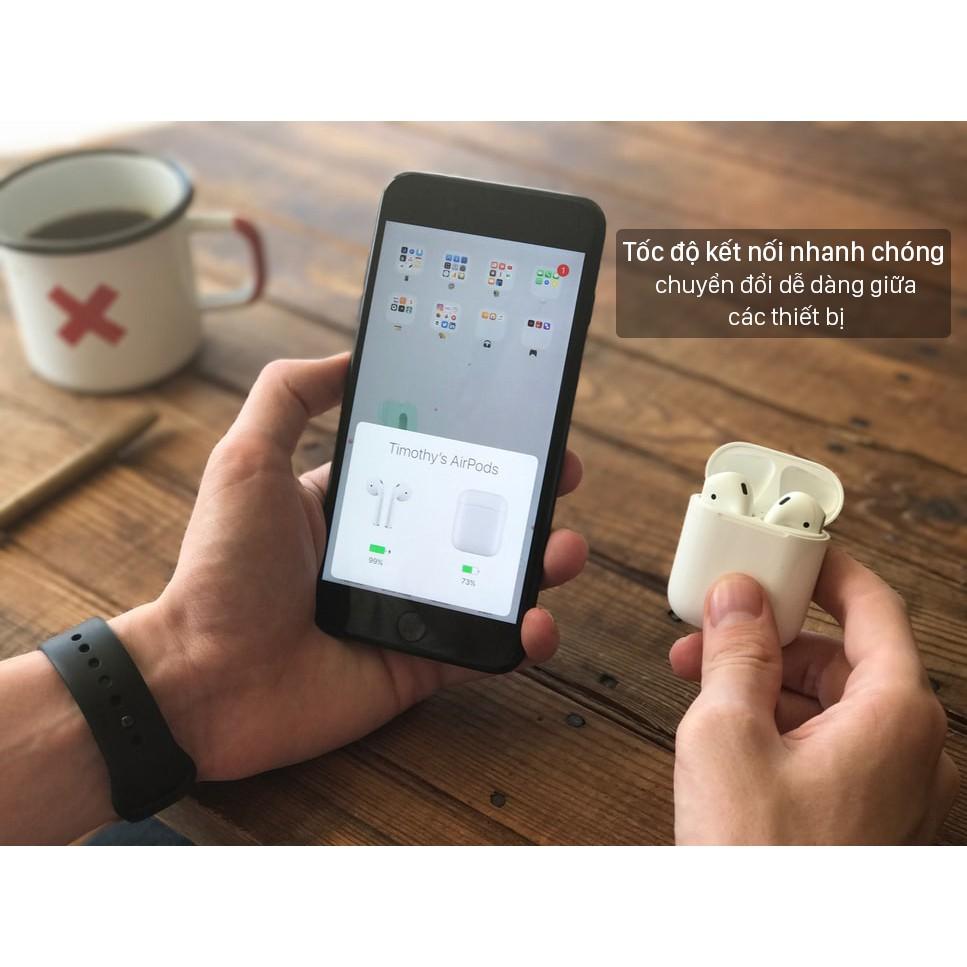 Tai nghe Bluetooth airpod 2 cảm biến nhanh nhạy định vị đổi tên chất lượng âm thanh trầm nghe cực phê