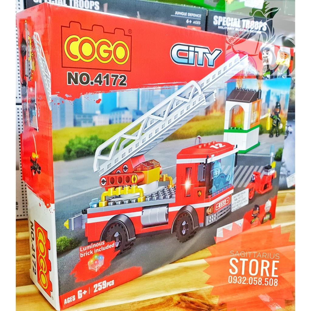 Lego Lắp Ráp Xe Cứu Hỏa COGO 4172 ( 259 Mảnh )