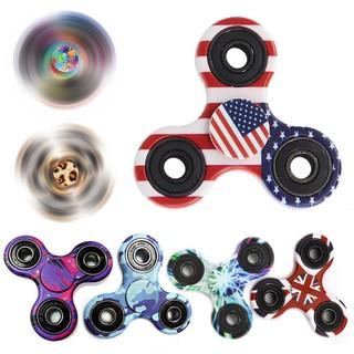 6Pack Random Camo Tri Fidget Hand Spinner EDC Focus Toys ADD ADHD Anxiety Stress