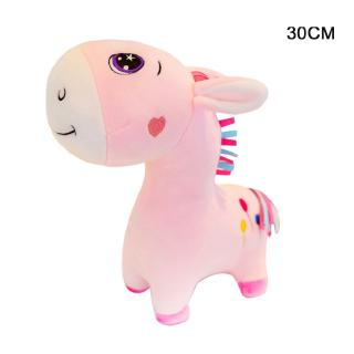 HAP Plush Toys Soft Donkey Appease Doll Sleeping Pillow Kids Rainbow Horse Toys For Children Christmas Birthday Gift