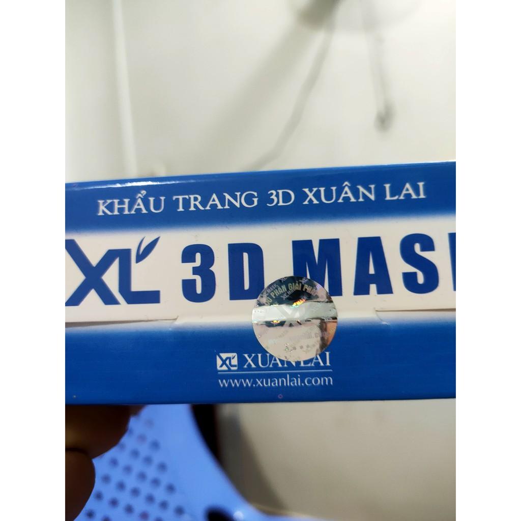 50 cái . khẩu trang 3D Mask xuân Lai (Chính Hãng) quai deo dẻo , khẩu trang y tế.