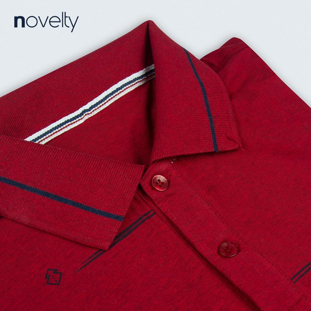 [Mã FASHIONMALLT4 giảm 15% tối đa 30K đơn 150k] Áo thun Polo nam Novelty 200032N màu đỏ