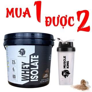 ( Tặng Shaker) Whey Protein Isolate Muscleking 2Kg -Tăng Cơ- Giảm Mỡ- Hấp Thụ Cực Nhanh