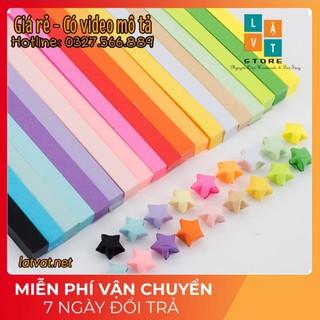 [MỚI] Giấy gấp sao màu đơn sắc nhiều màu – origami star paper