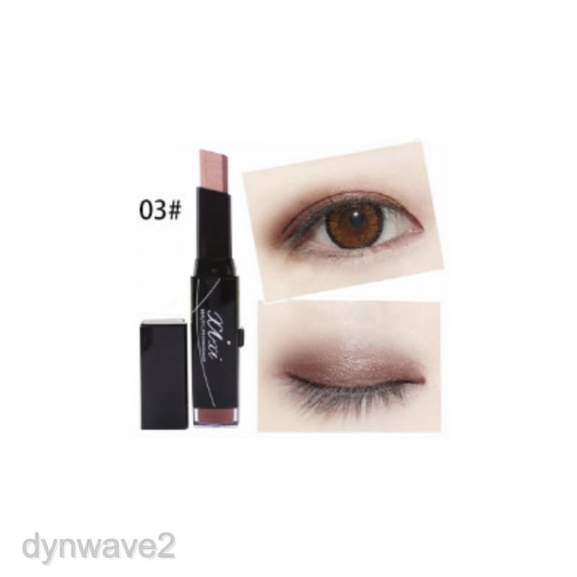 Double Color Eye Shadow Shimmer Makeup Pencil Eyeshadow Stick Nude Smokey