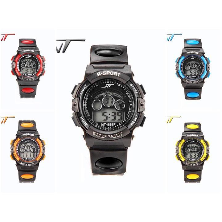(giá sỉ)Đồng hồ trẻ em dây nhựa điện tử nhiều màu S-Ssport S888