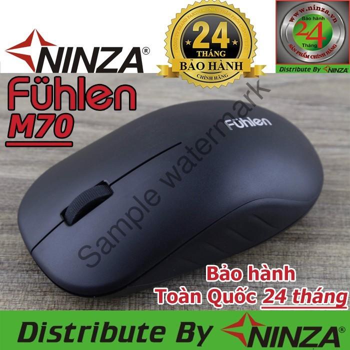 Chuột không dây Fuhlen M70 chính hãng + Pin [Ninza Bảo hành Toàn Quốc 24 tháng] Giá chỉ 126.000₫