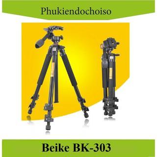 [Mã 159ELSALE hoàn 7% đơn 300K] Chân máy ảnh BEIKE BK-303 (China) . Tặng Da cừu - Da thật thumbnail