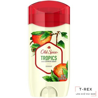 Yêu Thích[FREESHIP] Lăn Sáp Khử Mùi Old Spice Inspired By Nature Collection Tropics With Citrus Zest Scent 85g (Sáp Xanh)