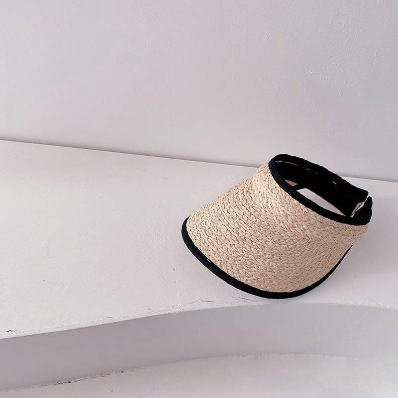 [M044] Mũ cói nửa vành hở chóp
