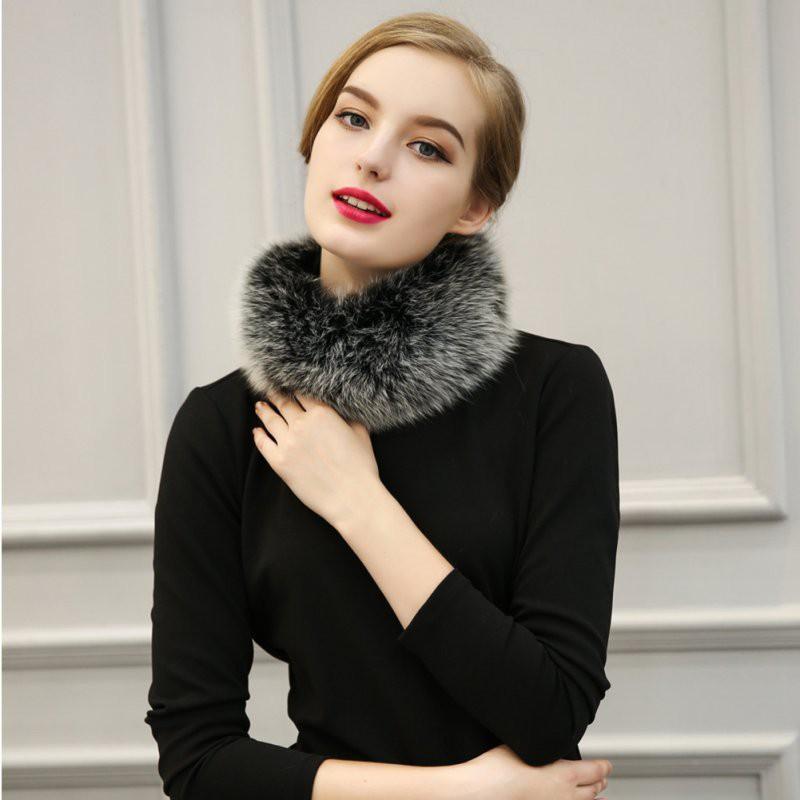 Khăn lông choàng cổ ấm áp mềm mại thời trang cho nữ