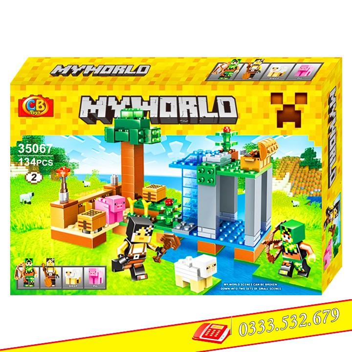 Bộ Lego Lắp Ráp My World Mineecraft Nông Trại 35067-2/134 PCS(Chi Tiết). Xếp Hình Lego Đồ Chơi Tr