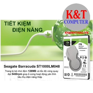 Ổ Cứng HDD Laptop Seagate BarraCuda 1TB/128MB/2.5/5400 - ST1000LM048